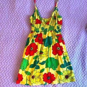 ♥️ Hawaiian | Floral Summer Dress: Sz Small